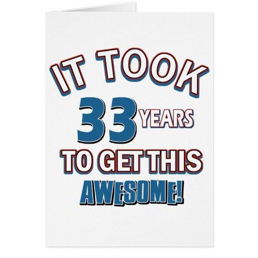 33 year old birthday designs cards