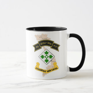 33d Scout Dog Platoon 4ID Coffee Cup