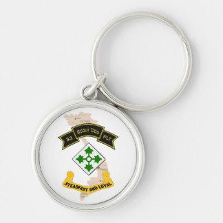 33d Scout Dog Platoon 4ID Keychain