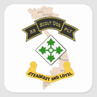 33d Scout Dog Platoon 4ID Stickers