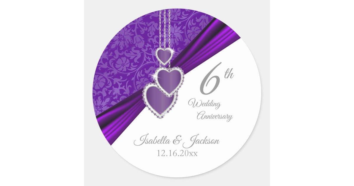 33rd Wedding Anniversary Gifts: 33rd / 6th Amethyst Wedding Anniversary Design Classic