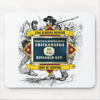 33rd Alabama Infantry Mouse Pad
