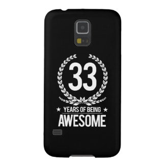 33rd Birthday (33 Years Of Being Awesome) Galaxy S5 Case