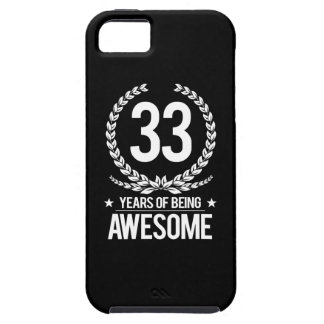 33rd Birthday (33 Years Of Being Awesome) iPhone SE/5/5s Case