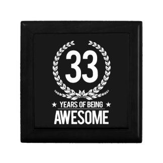 33rd Birthday (33 Years Of Being Awesome) Jewelry Box