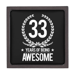 33rd Birthday (33 Years Of Being Awesome) Keepsake Box