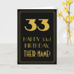 "[ Thumbnail: 33rd Birthday – Art Deco Inspired Look ""33"" & Name Card ]"