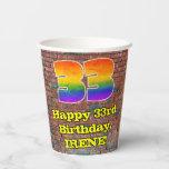 [ Thumbnail: 33rd Birthday: Fun Graffiti-Inspired Rainbow 33 ]