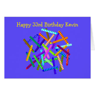 33rd Birthday Gifts Card