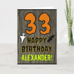 [ Thumbnail: 33rd Birthday: Spooky Halloween Theme, Custom Name Card ]