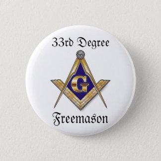 33rd Degree Freemason Button