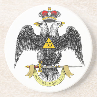 33rd Degree Scottish Rite Black Eagle Coaster