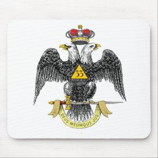 33rd Degree Scottish Rite Black Eagle Mouse Pad