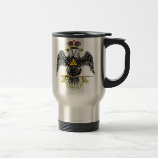 33rd Degree Scottish Rite Black Eagle Travel Mug