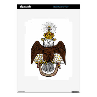 33rd Degree Scottish Rite Brown Eagle Decals For iPad 2