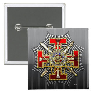 33rd Degree: Sovereign Grand Inspector General 2 Inch Square Button