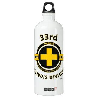 "33RD INFANTR DIVISION ""ILLINOIS-PRAIRIE"" ALUMINUM WATER BOTTLE"