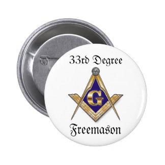 33ro Botón del Freemason del grado Pins