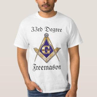 33ro Camiseta del Freemason del grado Camisas