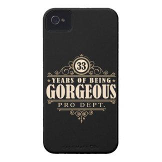 33ro Cumpleaños (33 años de ser magníficos) Funda Para iPhone 4