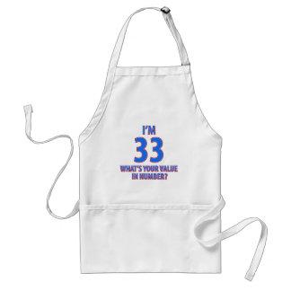 33ro diseños del cumpleaños delantal