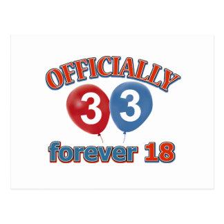 33ro diseños del cumpleaños postal