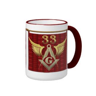 33ro Freemason del grado Taza De Dos Colores