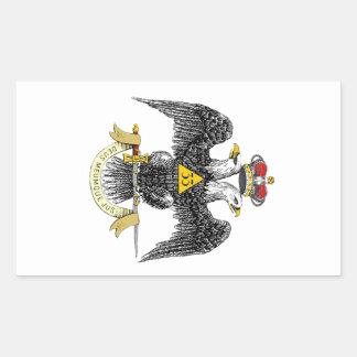 33ro Negro escocés Eagle del rito del grado Rectangular Altavoz
