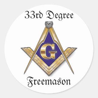 33ro Pegatina del Freemason del grado