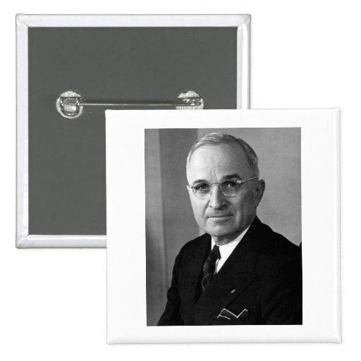 33ro presidente de Harry S. Truman Pin Cuadrado