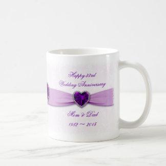 33ro taza del aniversario de boda del damasco