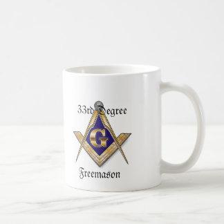 33ro Taza del blanco del Freemason del grado