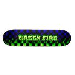 33x8greenflames patin personalizado