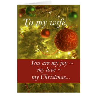 3400 Wife Golden Christmas Tree Cards