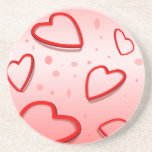 3406-i-love-you-vector RED HEART LOVE YOU SAYING E Drink Coaster