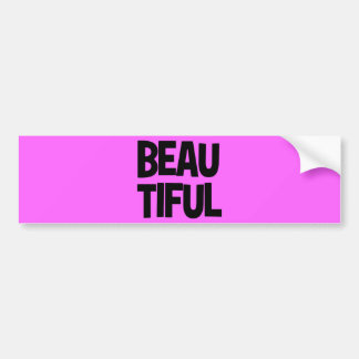 340__beautiful-word-art COMPLIMENTS ATTITUDE FASHI Bumper Sticker