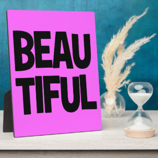 340__beautiful-word-art COMPLIMENTS ATTITUDE FASHI Plaque