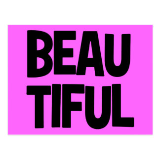 340__beautiful-word-art COMPLIMENTS ATTITUDE FASHI Postcard