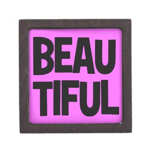 340__beautiful-word-art FELICITA la ACTITUD FASHI Cajas De Recuerdo De Calidad