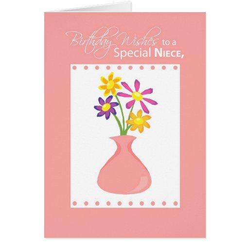 Happy Birthday Niece Images Religious ~ Niece birthday flowers religious card zazzle