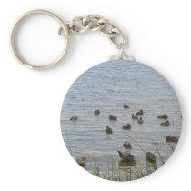 3415 Ducks by grass Keychain