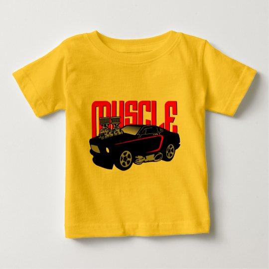 341 Cartoon Muscle Car Baby T-Shirt