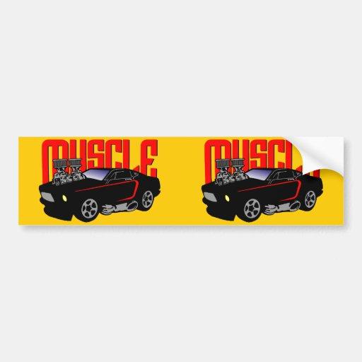 341 Cartoon Muscle Car Car Bumper Sticker