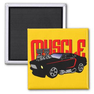 341 Cartoon Muscle Car Magnet