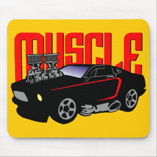 341 Cartoon Muscle Car Mouse Pad