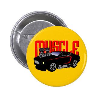 341 Cartoon Muscle Car Pinback Button