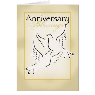 3424 Anniversary Blessings Card