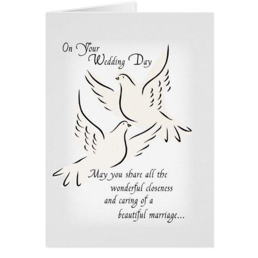 3427 Wedding Doves Religious Card