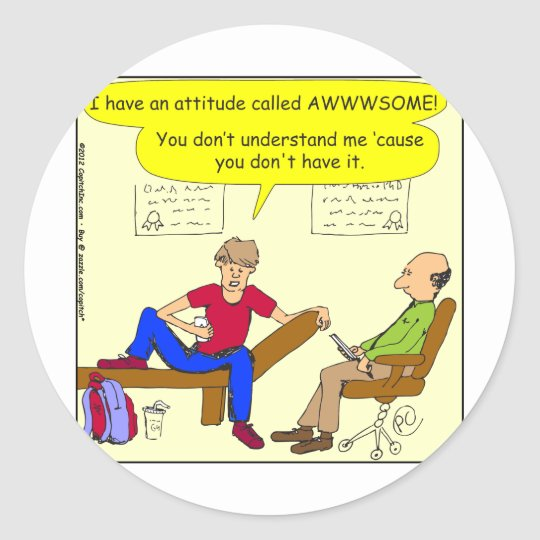 342 Teens are awesome cartoon Classic Round Sticker