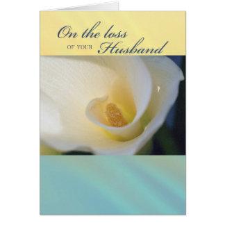 3430 Loss of Husband Sympathy Card
